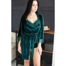 Пижама женская шорты+майка+штаны+халат 061-9