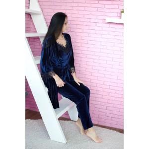 Пижама женская шорты+майка+штаны+халат 061-8