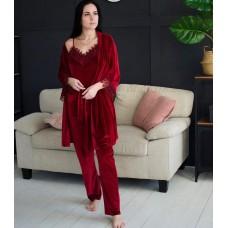 Невероятно нежные и прятные к телу велюровые пижамки. Не упусти возможность заказать пижамку по скидке!!! Модель 061-7