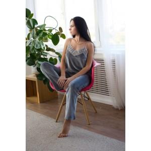 Пижама женская шорты+майка+штаны+халат 061-6