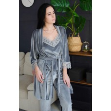Невероятно нежные и прятные к телу велюровые пижамки. Не упусти возможность заказать пижамку по скидке!!! Модель 061-6