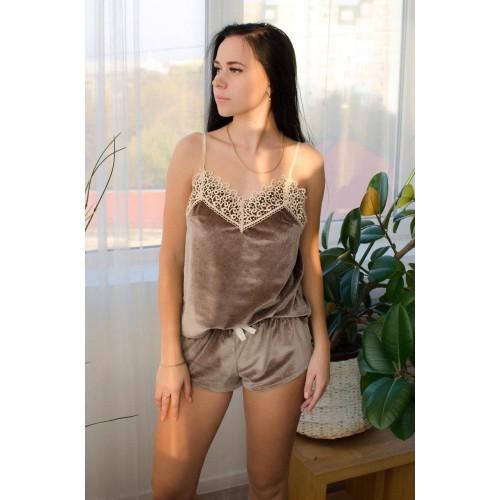 Невероятно нежные и прятные к телу велюровые пижамки. Не упусти возможность заказать пижамку по скидке!!! Модель 061-5
