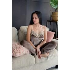 Пижама женская шорты+майка+штаны+халат 061-5