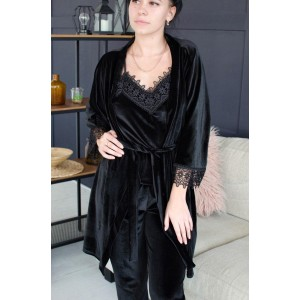 Пижама женская шорты+майка+штаны+халат 061-4