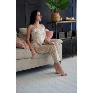Пижама женская  шорты+майка+штаны+халат 061-3