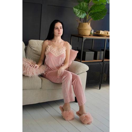 Невероятно нежные и прятные к телу велюровые пижамки. Не упусти возможность заказать пижамку по скидке!!! Модель  061-2