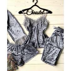 Невероятно нежные и прятные к телу бархатные пижамки. Не упусти возможность заказать пижамку по скидке!!! Качественный пошив! Модель 072-2