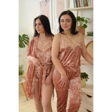 Невероятно нежные и прятные к телу бархатные пижамки. Не упусти возможность заказать пижамку по скидке!!!Модель 072-10
