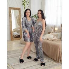 Невероятно нежные и прятные к телу бархатные пижамки. Не упусти возможность заказать пижамку по скидке!!! Качественный пошив! Модель 072-51
