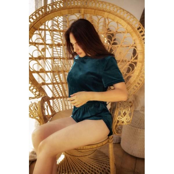 Невероятно нежные и прятные к телу бархатные пижамки. Не упусти возможность заказать пижамку по скидке!!! Качественный пошив! Модель  076-1
