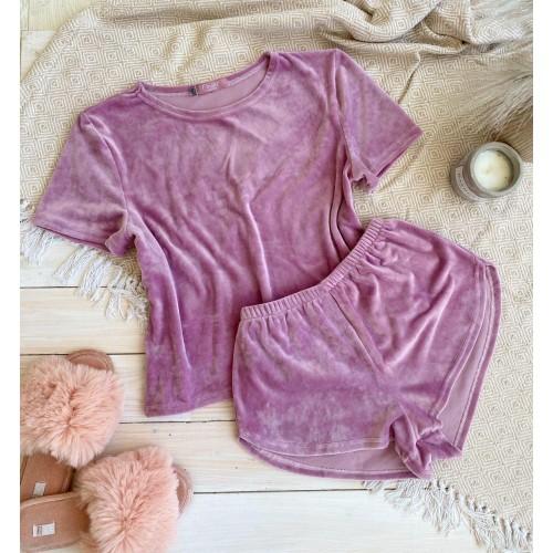 Невероятно нежные и прятные к телу бархатные пижамки. Не упусти возможность заказать пижамку по скидке!!! Качественный пошив! Модель   076-4