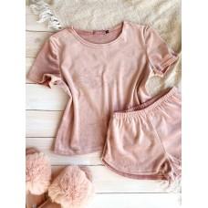 Невероятно нежные и прятные к телу бархатные пижамки. Не упусти возможность заказать пижамку по скидке!!! Качественный пошив! Модель   076-9