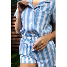 мод 082 Рубашка (Короткий рукав) +шорты  082-1