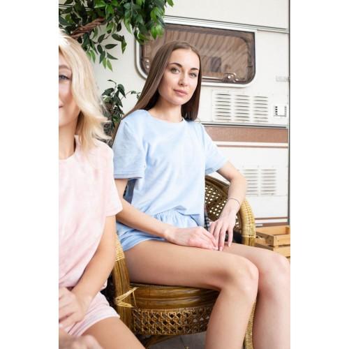 Невероятно нежные и прятные к телу бархатные пижамки. Не упусти возможность заказать пижамку по скидке!!! Качественный пошив! Модель  076-22