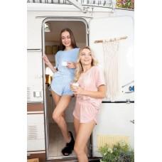 мод 076   футболка +шорты    076-22