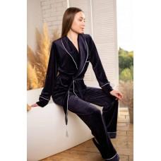 Невероятно нежные и прятные к телу бархатные пижамки. Не упусти возможность заказать пижамку по скидке!!! Качественный пошив! Модель  090-25