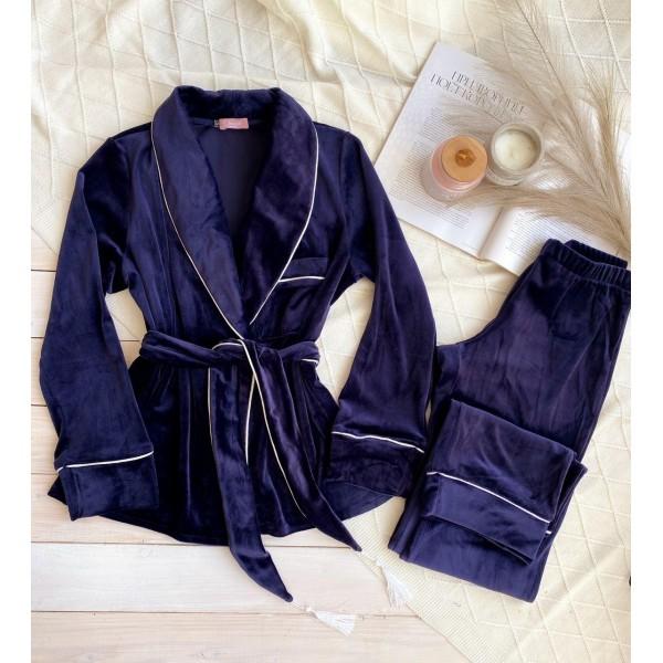 Невероятно нежные и прятные к телу бархатные пижамки. Не упусти возможность заказать пижамку по скидке!!! Качественный пошив! Модель 090-26