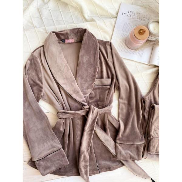 мод 090  короткий халатик  +штаны
