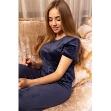 мод 094 Плюшевый комплект тройка : Футболка+шорты+штаны-094-4