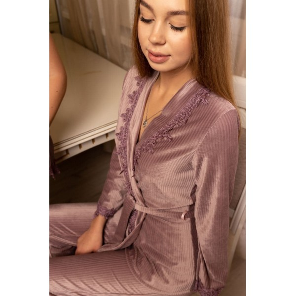 Невероятно нежные и прятные к телу бархатные пижамки. Не упусти возможность заказать пижамку по скидке!!! Качественный пошив! Модель  092-9